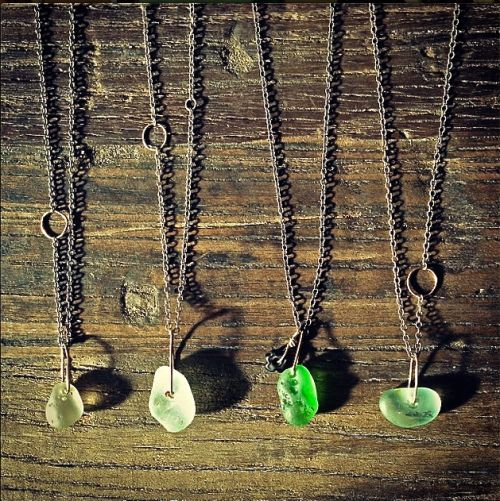 sea glass necklaces