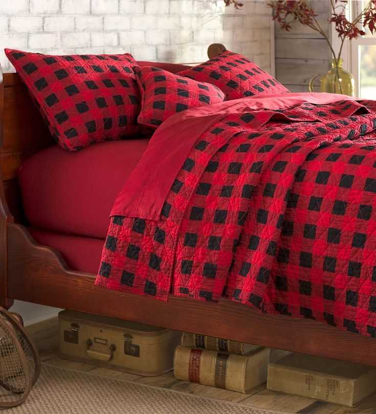 Buffalo Plaid Quilt Set Add Cabin Style To Your Bedroom