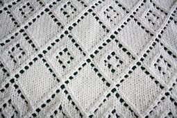 Ravelry: Diamond Lace Panel Blanket pattern by Dorothy P.