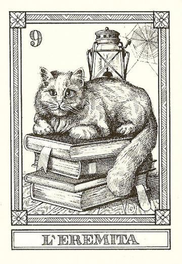 THE HERMIT  Osvaldo Menegazzi tarot card