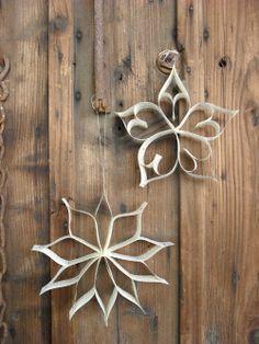 Basteln mit alten Büchern: Weihnachtssterne Anleitung // Crafting With Old Books: Christmas Stars Tutorial
