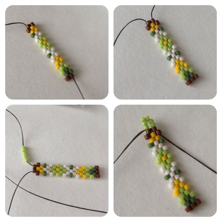 Плетение серег из бисера