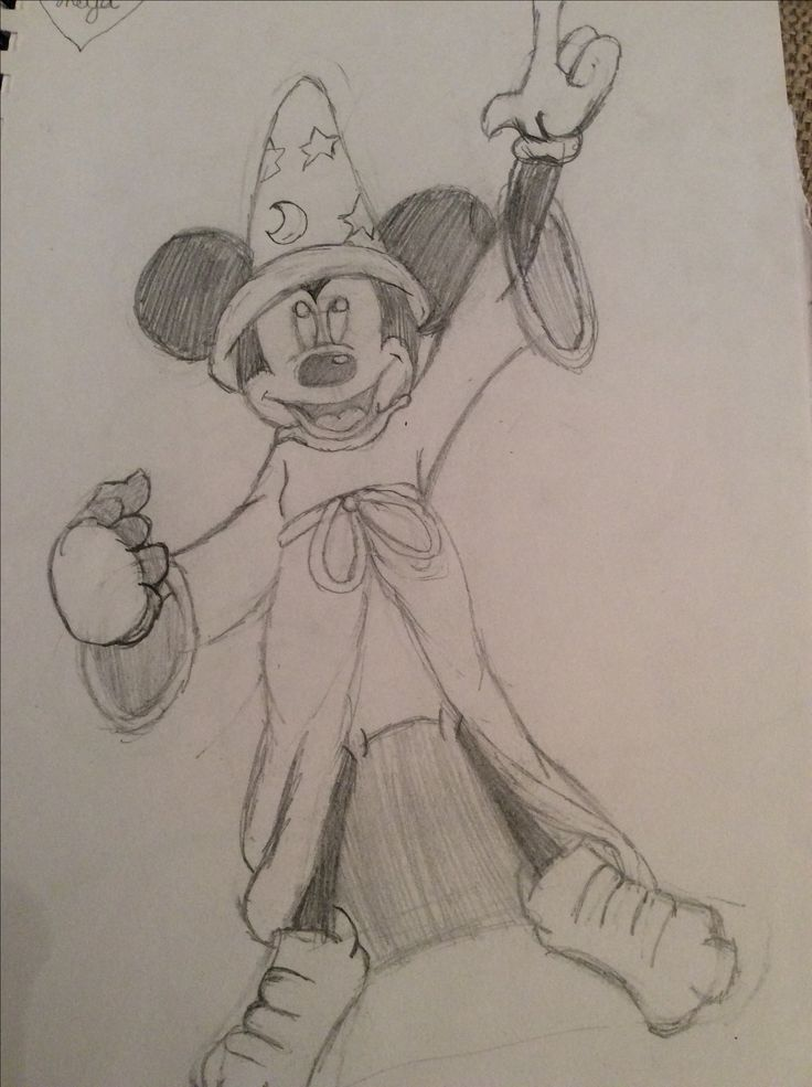 My drawing of sorcerer mickey mouse