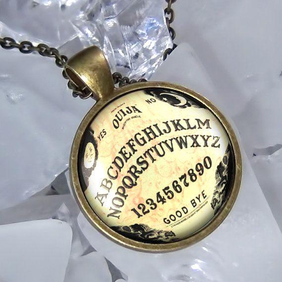 Limited Edition Vintage Ouija Board Antique Bronze Pendant Necklace 415-SRBD ~ KastketKustoms on Etsy