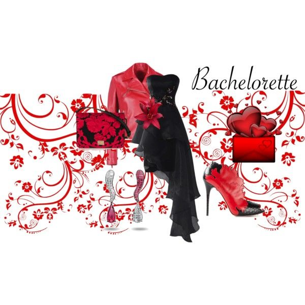 black and red by baebaoni-bijoux on Polyvore featuring moda, Valentino, Alexander McQueen, Dolce&Gabbana and de Grisogono