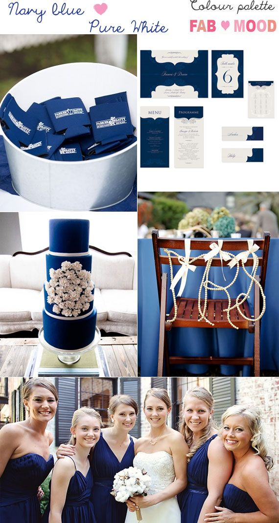 If you're planning Navy blue and white wedding colour theme, fabmood.com has tons of inspiring outdoor wedding photos and blue wedding color theme
