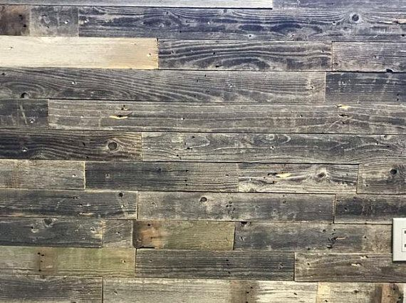 Barnwood Wall Planks Diy Barn Wood Reclaimed Wall Paneling Simple Peel And Stick 20 Sq Ft Barnwood Wall Wall Planks Reclaimed Barn Wood