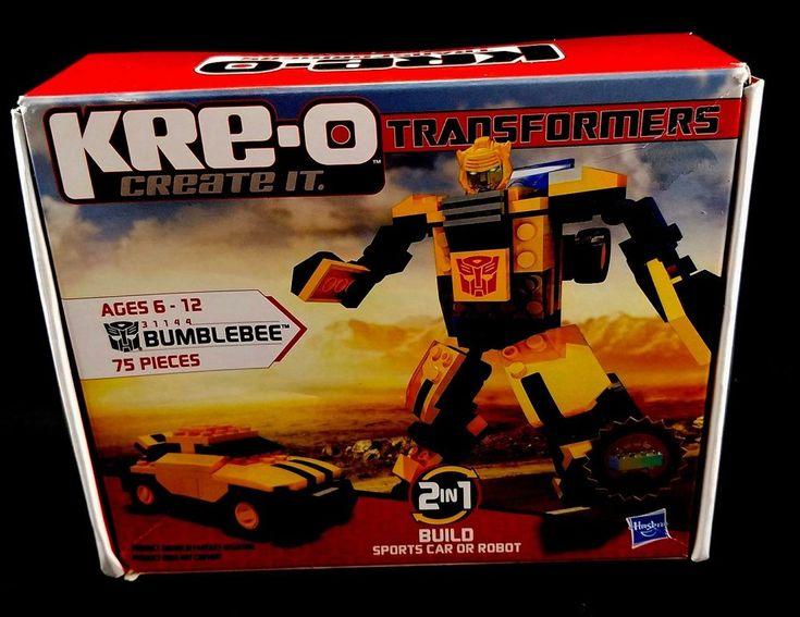 Hasbro KRE-O TRANSFORMERS Bumblebee 31144 Building Set 75 Pieces NEW Sealed #Hasbro