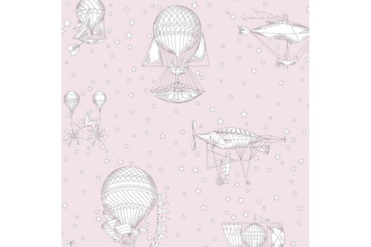 Grandeco Vliestapete 'Heißluftballons' puderrosa/warmweiß - im Fantasyroom Shop online bestellen oder im Ladengeschäft in Lörrach kaufen. Besuchen Sie uns!