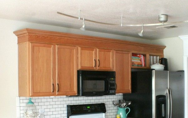 Update builder grade cabinets fast without painting - Builder grade oak kitchen cabinets ...