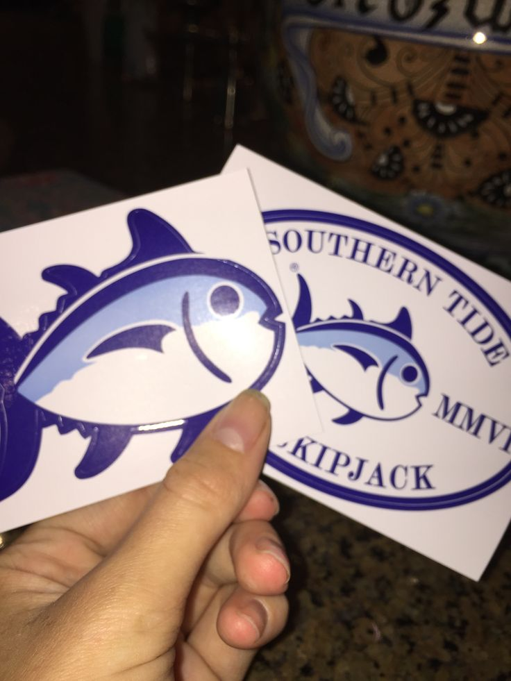 Free Southern Tide stickers from the link: http://www.southerntide.com/sticker-request/  Came within 1 week! - Tori