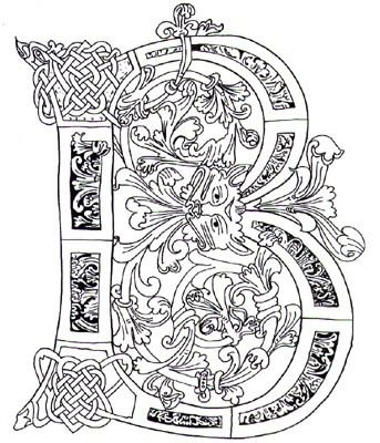 Illuminated Letter B Celtic Letters Pinterest Celtic