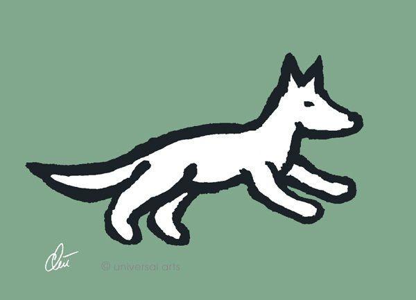 JACQUELINE DITT - Little Wolf limitiert sign.Grafik mit Alu Rahmen 13x18 cm Hund