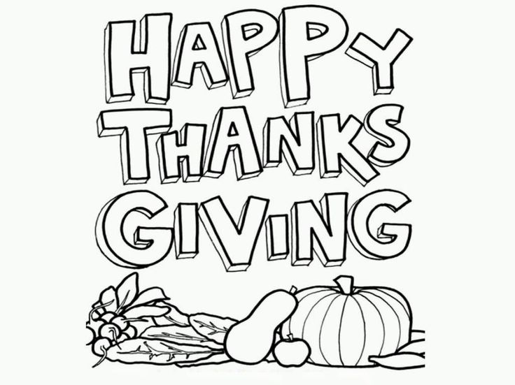 thanks giving coloring pictures