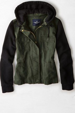 AEO HOODED MILITARY JACKET | American Eagle Outfitters (this pic!)