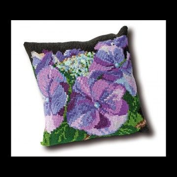 Kussen Hortensia borduurpakket - Thea Gouverneur
