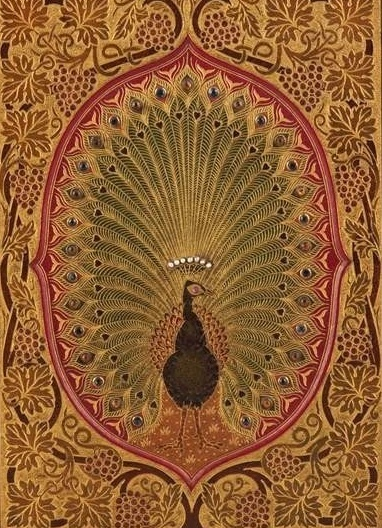 peacock boho art print.