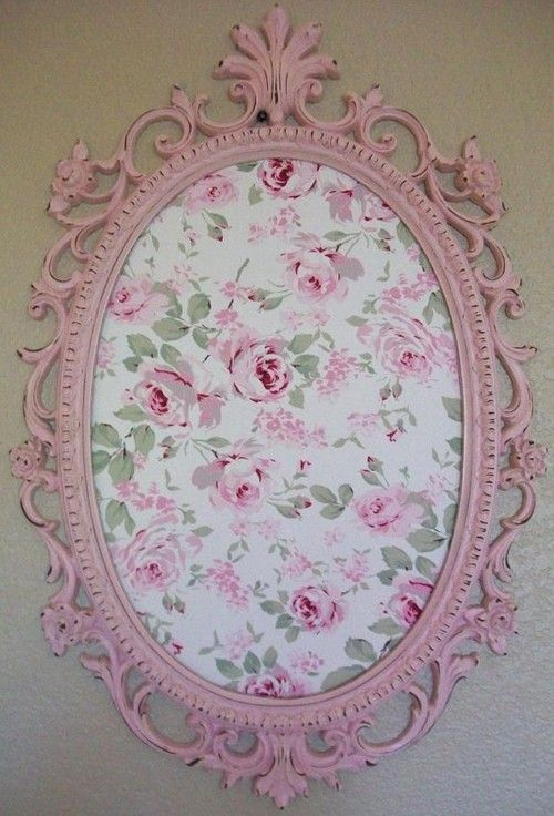 Love this. Frame with fabric or wallpaper