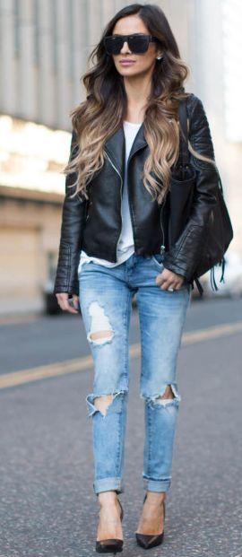 Mia Mia Mine Edgy Chic Fall Street Style Inspo women fashion outfit clothing stylish apparel @roressclothes closet ideas