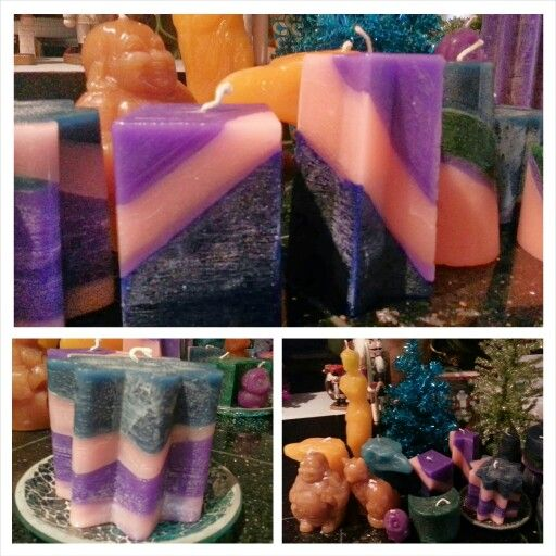 Candles I made today for gifts. #candlemaking