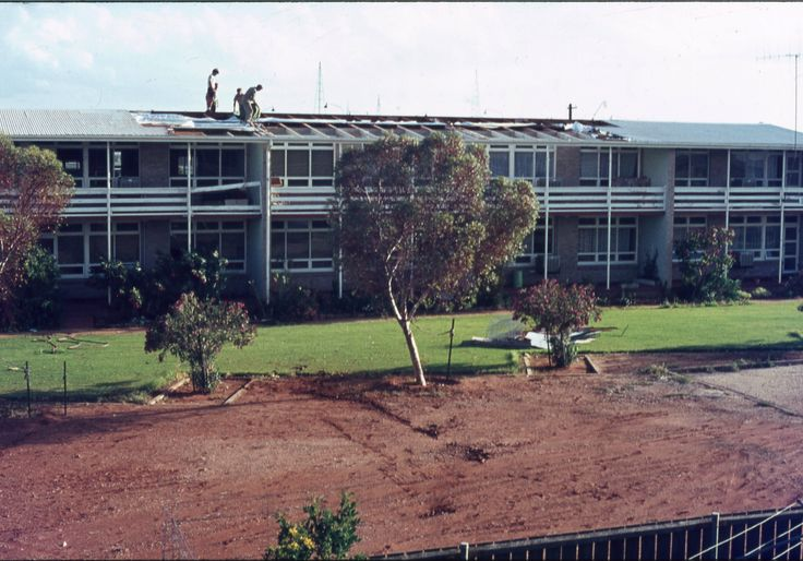 Woomera Apartments after storm