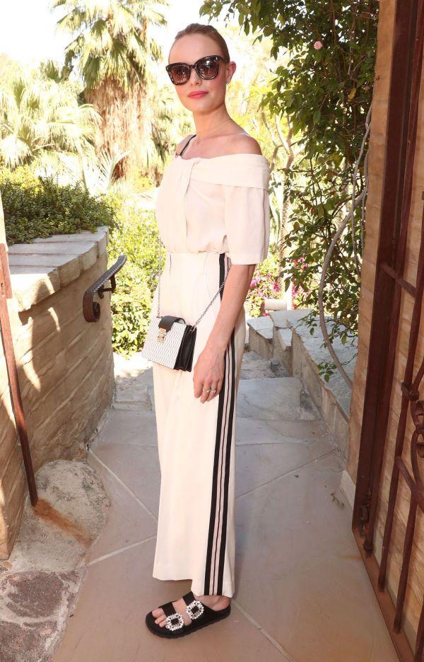 CLASSY: Kate Bosworth er alltid blant våre favoritter på Coachella. Her i et litt mer pyntet antrekk enn vanlig, også hun på festen til Rachel Zoe. Foto: Getty Images