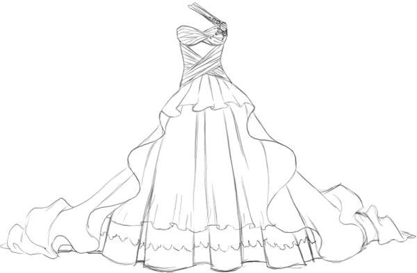 Comment dessiner une robe facile coloriage pinterest comment search and robes - Comment dessiner une tresse ...