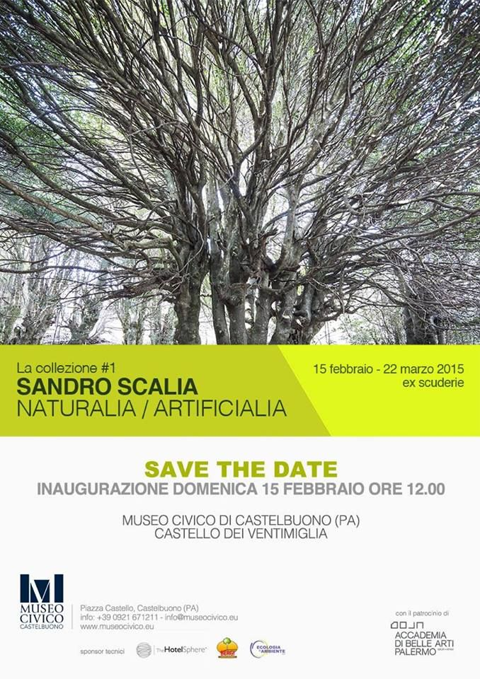 Museo Civico di Castelbuono invites us all to the opening ot naturalia/artificialia, solo exhibition by Sandro Scalia, on Feb 15, noon. Sandro Scalia's solo exhibition is the first of a series of shows focusing on artists whose works are present in the permanent collection of the museum, presenting on this occasion a new project by Scalia, a visual search, using video and photography, conducted in some unique sites of Castelbuono area.