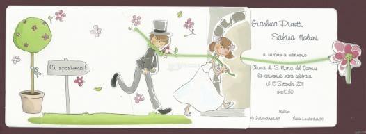 Partecipazione di nozze divertente