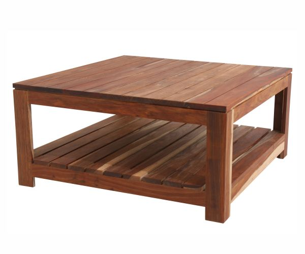 Classic Morris Coffee Table 1m x 1m in solid Kiaat. #solid #wood #table #patio