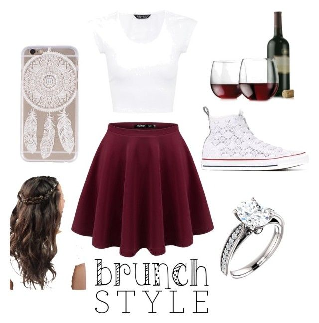 """""""dinner date"""" by jacky-lobe ❤ liked on Polyvore featuring Converse and Libbey"""