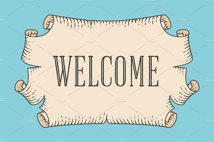 Welcome. Ancient scroll by FoxysGraphic on @creativemarket