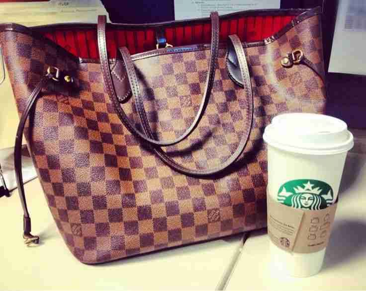Louis Vuitton Handbags ❤️ Starbucks!!