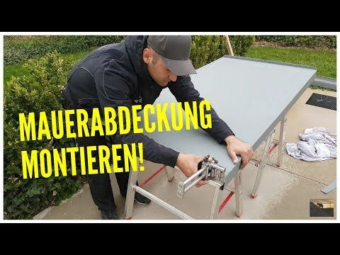 Dachdecker / Mauerabdeckung montieren / Mounting a wall covering with Prefa - YouTube