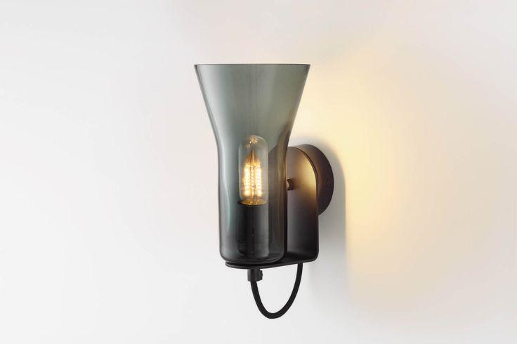 Ross Gardam   Flare wall light in black glass   Daily Imprint Interview + More Images http://www.dailyimprint.net/2015/09/designer-ross-gardam.html