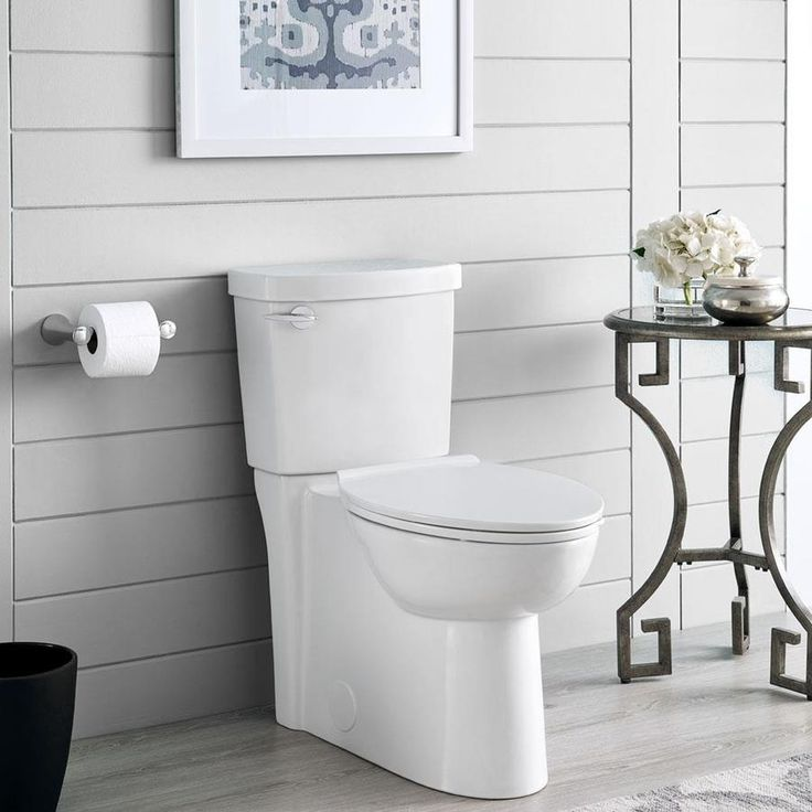 American Standard Clean White Watersense Labeled Elongated Chair Height 2 Piece Toilet 12 In Rough In Siz Water Sense Space Saving Toilet Bathroom Design Small