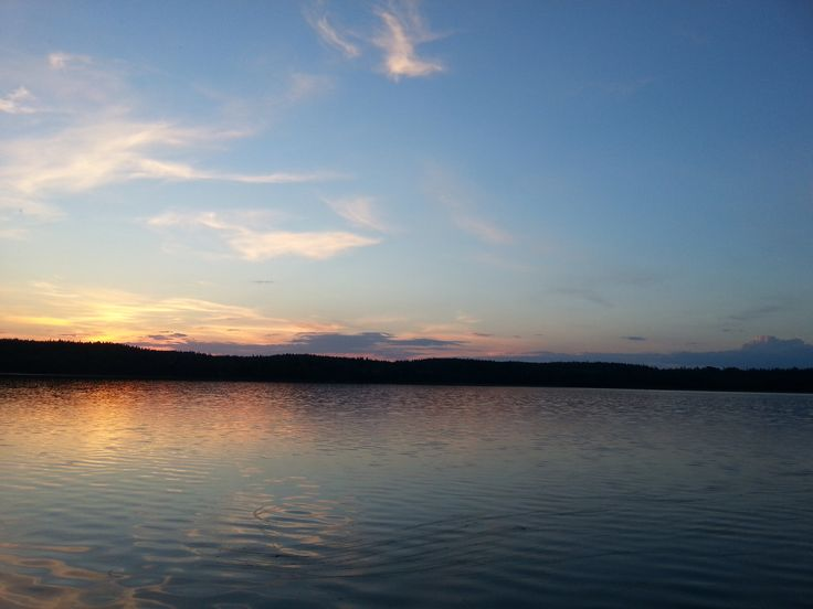 Sunset at lakeside July 19th  2014, Finland at 22:19.