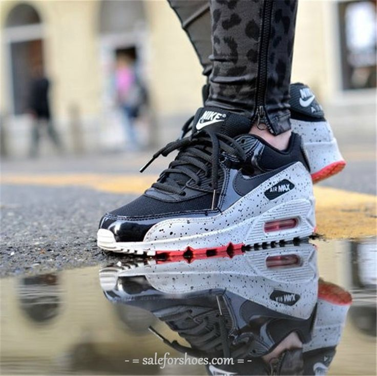 air max 90 outfit,air max 90 women,discount site to buy nike,$49~$69, 2014 New Nike Air Max 90 Womens Shoes Black Gray Ink