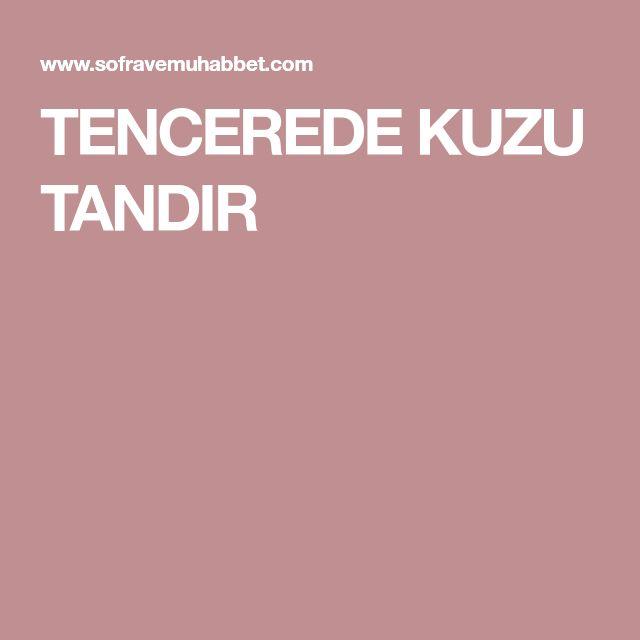 TENCEREDE KUZU TANDIR