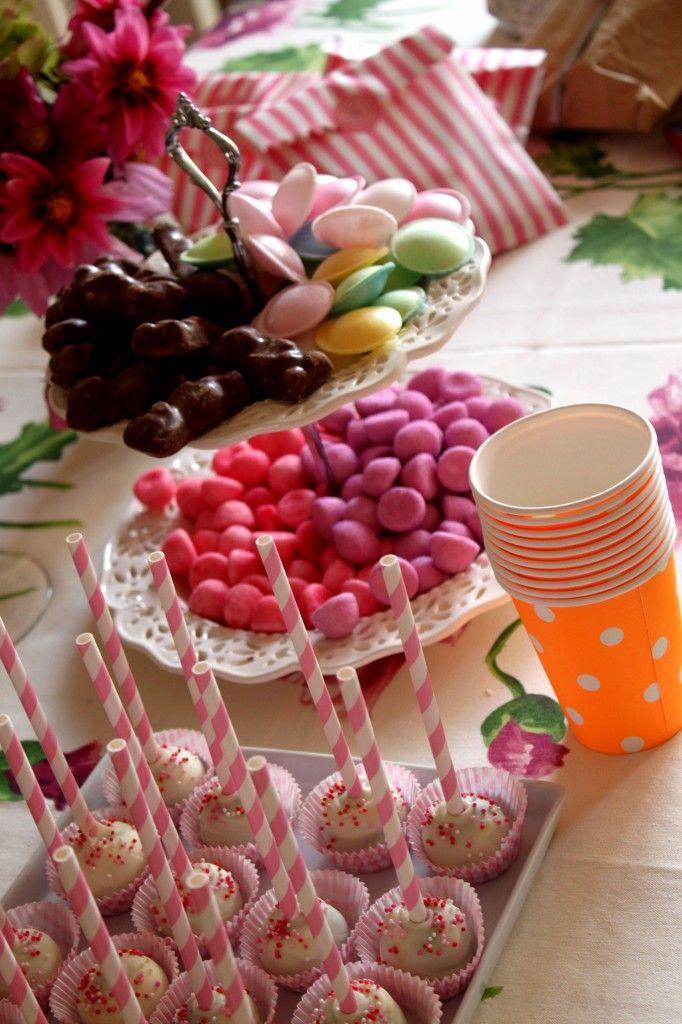 sweet table de fille / gouter anniversaire fille