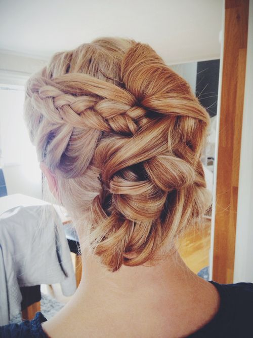 Prom hair idea: Hair Ideas, Braids Twists, Parties Hair, Hair Ideaupdo, Braids Updo, Beautiful Prom, Hair Makeup, Hair Style, Side Braids