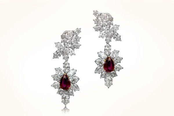 Harry Winston Ruby Earrings