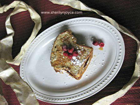 """Stuffed French Toast.  Perfect for Christmas morning! Find this recipe and many more in my FREE ebook """"The Gluten Free Holiday Survival Guide"""" ---> http://sherilynjoyce.com/gluten-free-holiday-recipes/"""