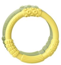 2 Fantastiske bideringe i medicinsk silicone fra Lifefactory, gul + grøn