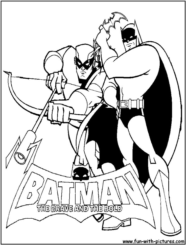 Batman Greenarrow Coloring Page