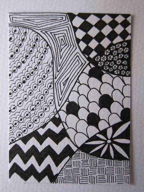 Zentangle Patterns for Beginners | Zentangle for Beginners ATC