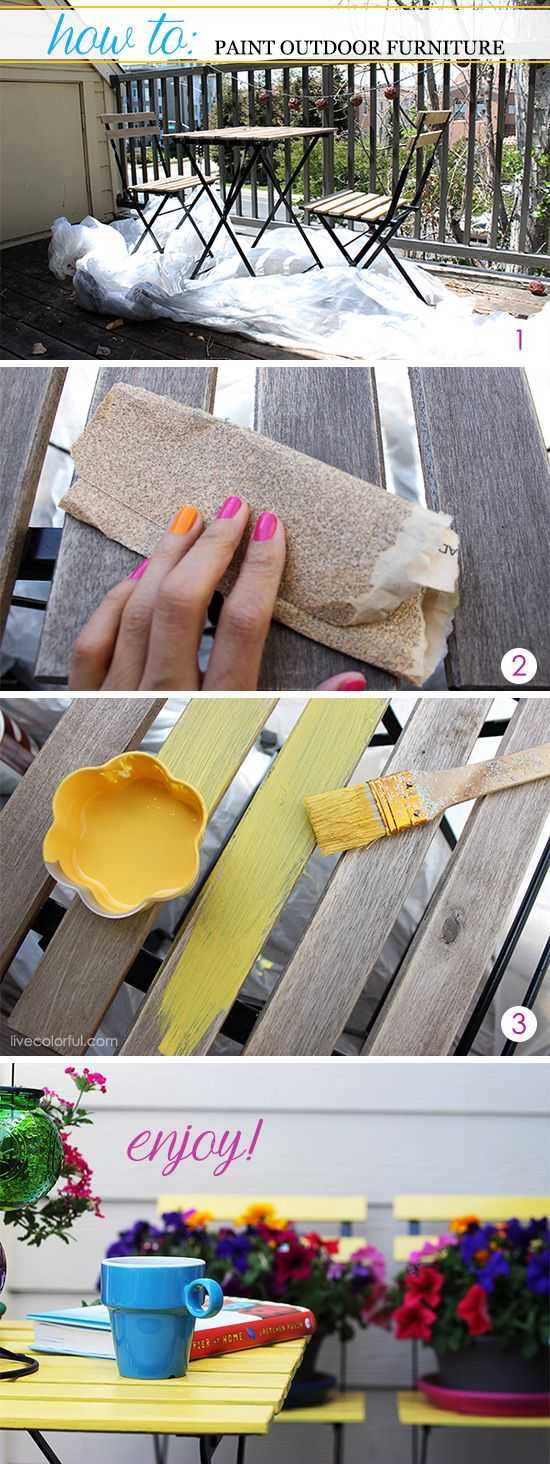 How to paint outdoor furniture via Live Colorful