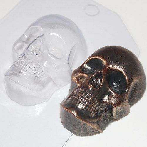 Skull plastic mold skull mold skeleton mold halloween by Moldsold