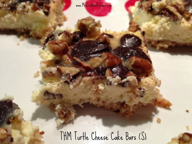 Turtle Cheesecake Bars (S)- Mrs. Criddle's Kitchen