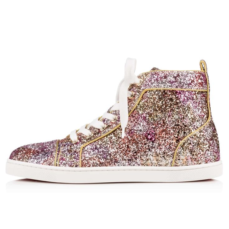 christian louboutin glitter sneakers womens